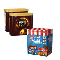 2 x 750g Tins of Nescafe Gold Blend Coffee with Free Nestle Mini Breaks - NL819842