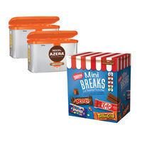 2 x 500g Tins of Nescafe Azera Coffee with Free Nestle Mini Breaks - NL819843