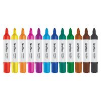 Graffico Assorted Jumbo Marker Pens, Pack of 48 - LL04954