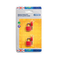 View more details about Status Brass Travel Padlock with Key (Pack of 5) SPCPLOCK2PK5