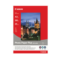 View more details about Canon White A3 Semi-Gloss Photo Paper, 260gsm - 20 Sheets - CO40542