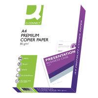 Q-Connect Premium White A4 Copier/Laser Paper 80gsm - 5 Reams KF01088A