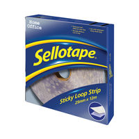 View more details about Sellotape 25mm x 12m Sticky Loop Strip   1445182