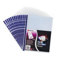View more details about Rexel Nyrex A4 Reinforced Top Opening Pockets, 90 Micron - Pack of 25 - 12233