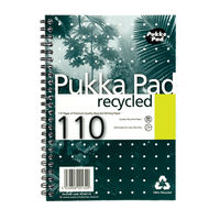 Pukka Pad A5 Wirebound Recycled Notebooks 110 Pages - Pack of 3 - RCA5/110