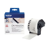 Brother Continuous Non-Adhesive Paper Roll Black on White 54mm DK-N55224