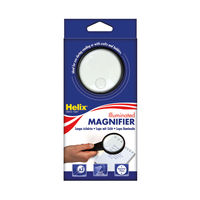 View more details about Helix Illuminated Magnifying Glass Hand Held 75mm Black MN1025