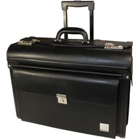 Monolith Leather Look Rolling Pilot Case - 2179