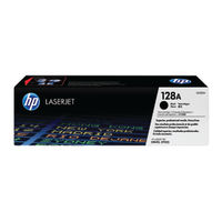 HP 128A Black Laser Toner Cartridge - CE320A