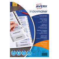 Avery White 10 Part Index Maker Dividers - 01812061
