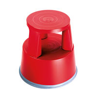 2Work Red Plastic Step Stool - T7/Red