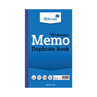 View more details about Silvine Carbonless Memo Ruled Duplicate Book, 100 Pages (Pack of 6) - 701-T