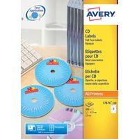 Avery White CD/DVD Full Face Labels (Pack of 50) - L7676-25