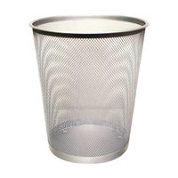 Q-Connect Silver Mesh Waste Basket - KF00849