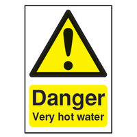 View more details about Danger Very Hot Water (75 x 50mm) Safety Sign - HA17343S