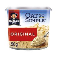 View more details about Quaker Oat So Simple 45g Original Porridge Pots, Pack of 8 - 121256