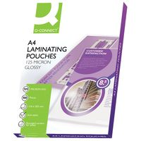 Q-Connect A4 Laminating Pouches 250 Micron Pack KF04116