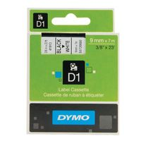 Dymo D1 Label Tape Black on White 9mmx7m - S0720680