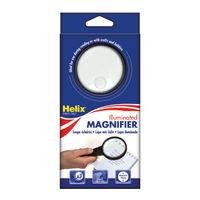 Helix Black 75mm Illuminated Magnifying Glass - MN1025