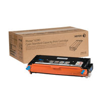 View more details about Xerox Phaser 6280 Cyan Toner Cartridge 106R01388