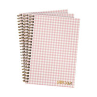 View more details about Pukka Ballerina Hardcover Notebook B5 Pink Check (Pack of 3) 9377-CD