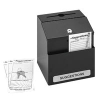 View more details about Safco Locking Suggestion Box Black 4232BL