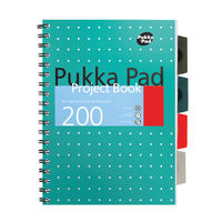 View more details about Pukka Pad A4+ Metallic Cover Wirebound Project Books, Pack of 3 - 8521-MET