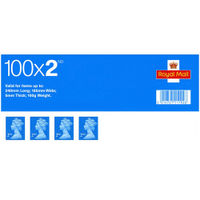 2nd Class Stamps x 100 Pack - (Self Adhesive Stamp Sheet)