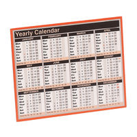 2019 257 x 210mm Year-to-View Calendar - KFYC119