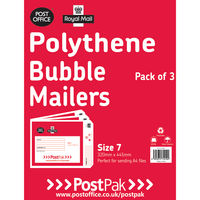 Size 7 Polythene Bubble Mailer - Pack 13<TAG>TOPSELLER</TAG>