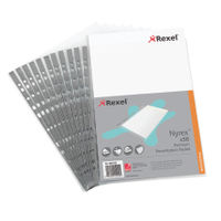 Rexel Nyrex A4 Presentation Punched Pockets, 90 Micron - Pack of 50 - RX15210