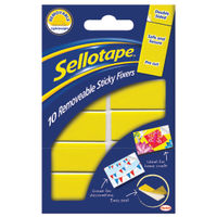 Sellotape Sticky Fixers Removable 20mm x 50mm (Pack of 10) - 484345