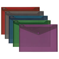 Snopake Polyfile Assorted A4 Fusion Wallets, Pack of 5 - 15643