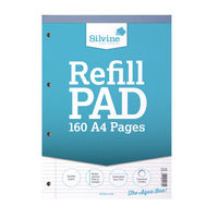 Silvine A4 Narrow Feint Ruled and Margin Refill Pad - Pack of 6- A4RPN/FT&M