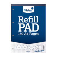 Silvine A4 Graph Refill Pads (5mm Squares) - Pack of 6 - A4RPX