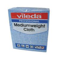 Vileda Blue Medium Weight Cloths, Pack of 10 - 106399