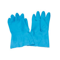 Caterpack Blue Medium Rubber Gloves, Pack of 6 - CPD00007