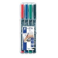 View more details about Staedtler Lumocolour Pen Permanent Fine Assorted (Pack of 4) 318-WP4