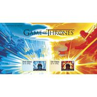 Mixed Class Stamps x2 - (Postage Stamp Book) Post and Go Game of Thrones - ZS050