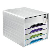 View more details about CEP White Secure 4 Drawer Set  - 7-311S GM Arctic