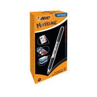 Bic Marking Black Permanent Marker Pens (Pack of 12) - 968476