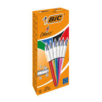 View more details about Bic 4 Colours Ballpoint Pens (Pack of 12) - 964775
