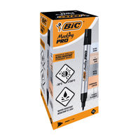 View more details about Bic Marking PRO Black Permanent Marker Pens (Pack of 12) - 964800