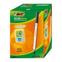 Bic Ecolutions Medium Black Ballpoint Pens, (Pack of 60) - 893239