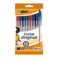 View more details about Bic Cristal Medium Assorted Ballpoint Pens (Pack of 10) - 830865
