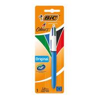Bic 4 Colour Retractable Ballpoint Pen Blisters, Pack of 10 - 8032232