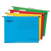 Rexel Foolscap Yellow Classic Suspension Files, Pack of 25 - 2115593