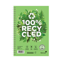 View more details about Silvine A5 Premium Recycled Wirebound Notebooks, Pack of 5 - R103