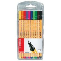 Stabilo Point 88 Assorted Fineliners Pens, Pack of 10 - F5D7633UK4A