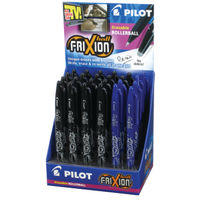 24 x Pilot Frixion Erasable Rollerball Pen Display, in black and blue colours - 224502400